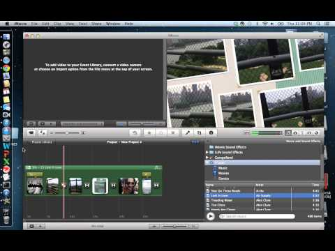 How to create a project imovie 11