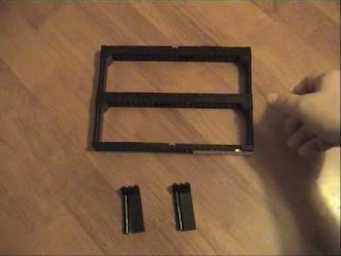 Lego Minifig wall display system - using Ikea Ribba frame