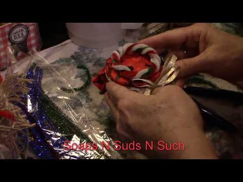 DIY project making  fashion Pins for Christmas mason jar craft project, Part two