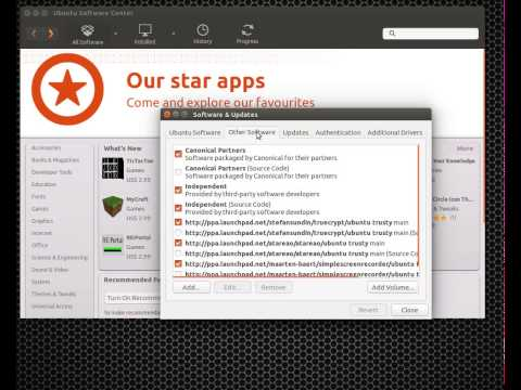 Editing Software Sources in Ubuntu 14.04