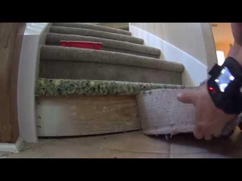 Stair step replacement  Carpet Repair VLOG Corey Thibodaux