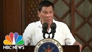 Philippines President Says He Was 'Personally' Involved In Police Killings | NBC News