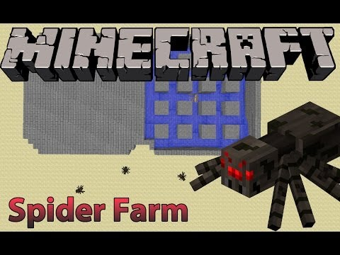 Minecraft Tutorial: Spider-Only Mob Farm (NO SPAWNER NEEDED)
