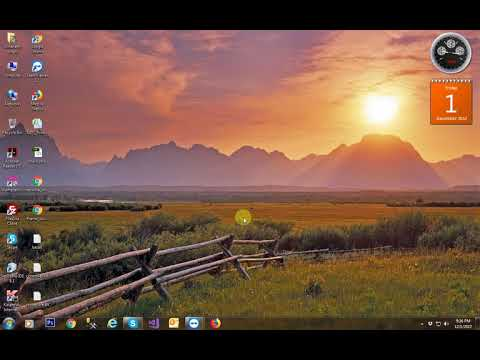 How to add clock and calendar on desktop