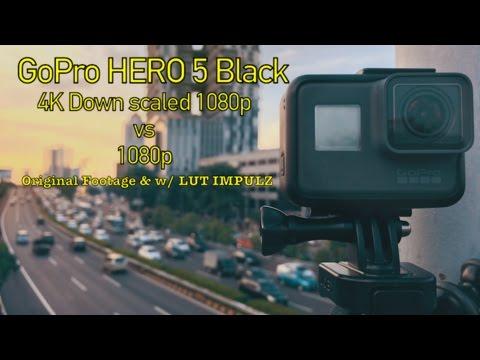Gopro Hero 5 Black 4K downscale 1080p VS 1080P
