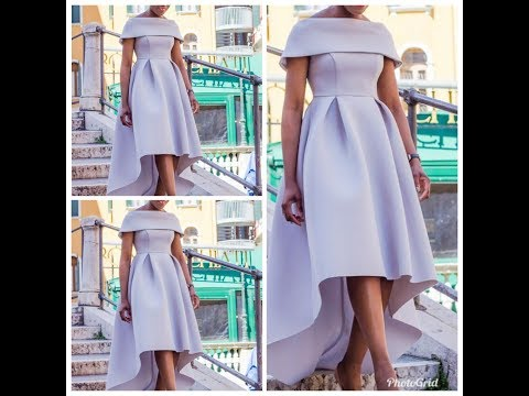 How To Make A High Low Off Shoulder Cape Dress