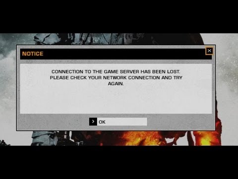 Battlefield bad company 2 Connection to game server has been lost *FIX*