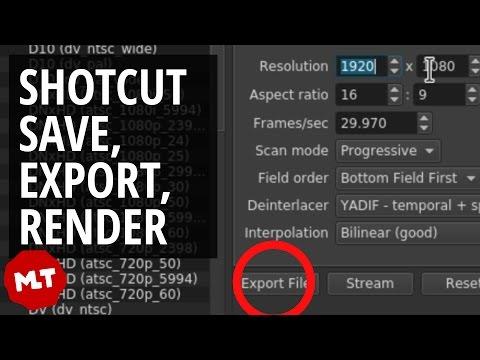 Save/Export/Render Video in Shotcut - Easy Tutorial