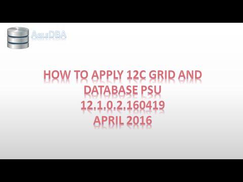 Howto: Apply Oracle 12c GI DB PSU April 2016 RAC