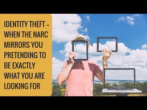 Identity Theft — When the narc mirrors you and pretends to be exactly what you are looking for