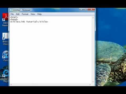 How to Make a HTML Website in Notepad Part 3: Adding Links and Menu Bars