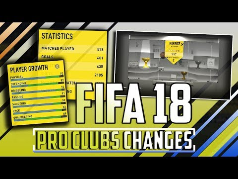 FIFA 18 Pro Clubs | 5 BIG CHANGES WE NEED!!