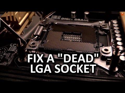 LGA 2011 Socket Pin Repair Vlog - Fix a