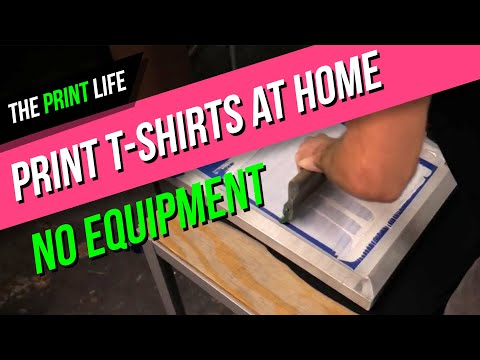 How to Silk Screen Print a t-shirt at home for cheap | The Print Life | DIY