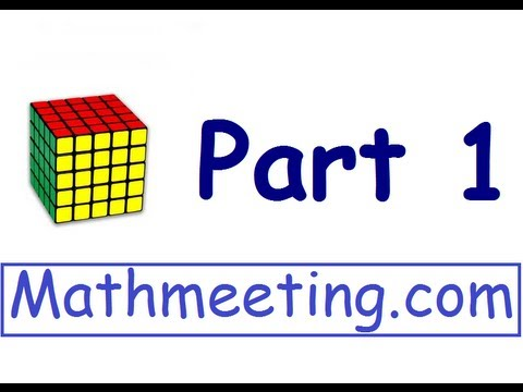 How to solve a 5x5 Rubik's cube - Part 1 - Centers