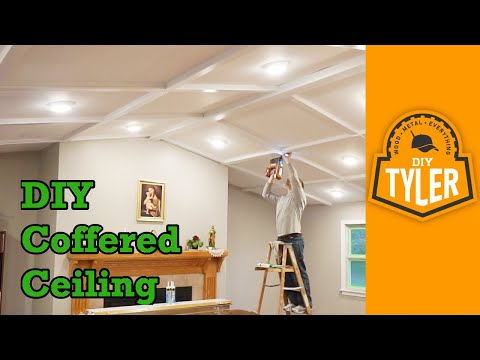 DIY Coffered Ceiling