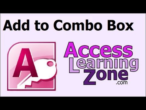 Microsoft Access Add Item to Combo Box