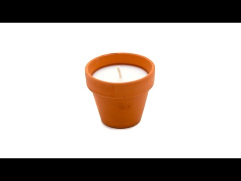 5 Minute Soy Container Candle in a Flower Pot