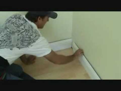 Installing baseboard: how to install an inside corner
