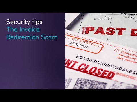 Security tips l The Invoice Redirection Scam