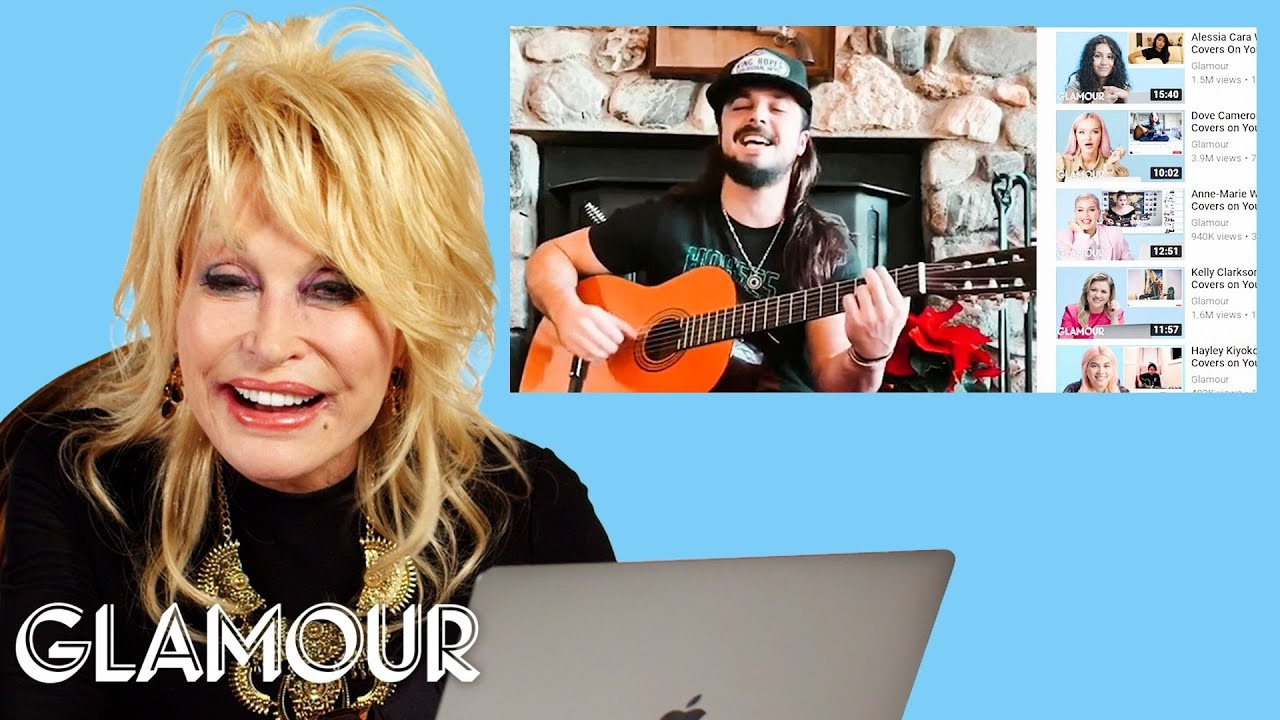 Dolly Parton Watches Fan Covers on YouTube   Glamour