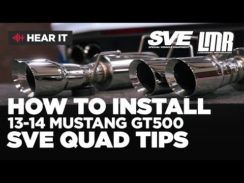 2013-2014 Mustang SVE GT500 Quad Tip Axle Back - Sound Clips & Install