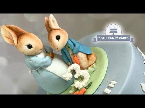 Peter Rabbit & Josephine Rabbit cake toppers Beatrix Potter