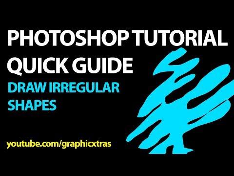 Draw irregular shapes in Photoshop tutorial