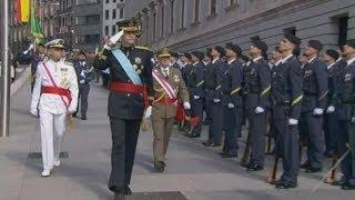 El Rey Felipe VI pasa revista al Ejército