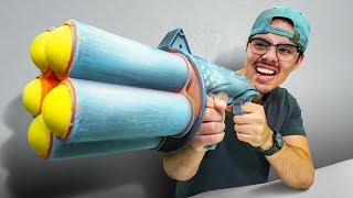 NERF Snowball Bazooka Challenge!