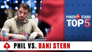 Top 5 Poker Moments - Phil Hellmuth vs. Dani Stern | PokerStars