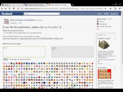 How to put emoticons on comment to friends' posts..