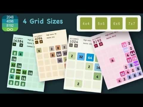 2048 tile addictive game - Algarism