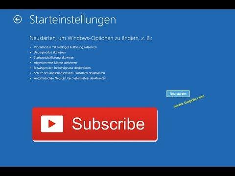 Windows 10 im abgesichertes modus starten.