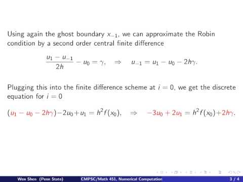 ch10 8. Robin Boundary condition for Poisson Equation. Wen Shen
