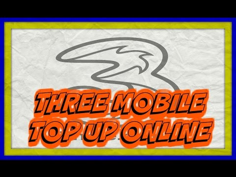 Buy Three Mobile Top Up Online - Voucher Code is Delivered to Email