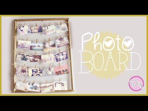 PHOTO BOARD / PICTURES FRAME!!! (Tutorial) ▲ Paulattee