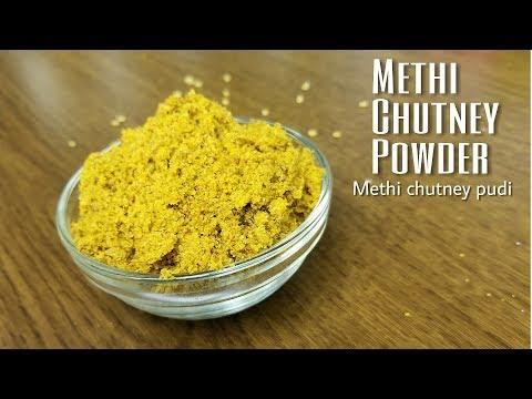 Methi chutney pudi / powder | Fenugreek chutney powder