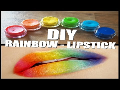 DIY - Crayon Lipstick (Rainbow)