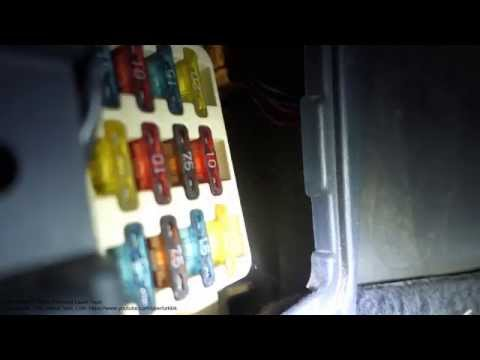 How to replace radio fuse Toyota Corolla. Years 1991 to 2000