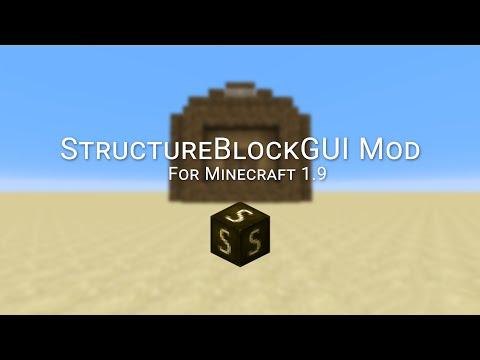 Minecraft 1.9 - StructureBlockGUI Mod (1.9)