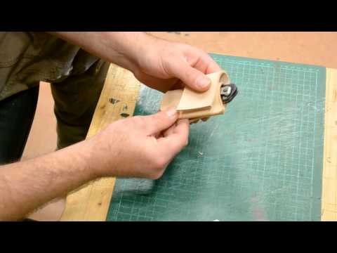 How to make a simple sheath for folding knife -part 4