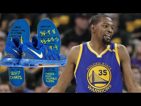 Kevin Durant TROLLS Haters with NIKE KD 10's and They Are Straight Fire! 🔥🐍🔥