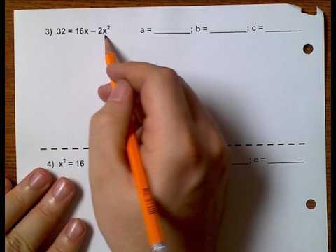 Algebra 1(Topic 7-4) Quadratic Formula Revisited
