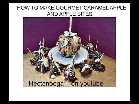 Emi's GOURMET  CHOCOLATE CARAMEL APPLES, and APPLE BITES