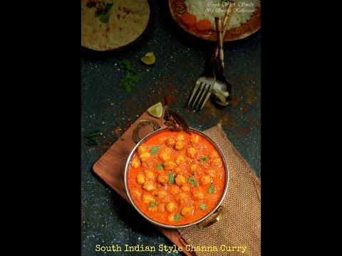 South Indian style Channa Masala/ chole curry  recipe with Preethi Electric Pressure Cooker