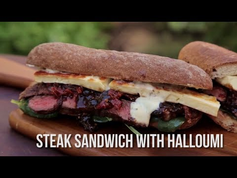 How to Cook a Gourmet Steak Sandwich with Halloumi