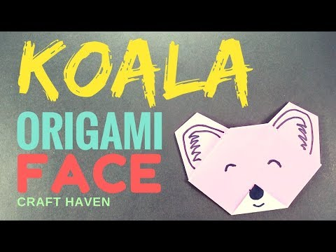 Koala Origami Face - Easy Origami Tutorials for Beginners - Fun & Easy Paper Koala - Origami Animals
