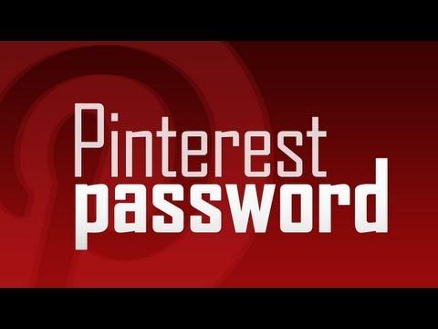 Change Pinterest Account Password