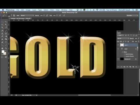 Realistic Gold Text Effect in Photoshop *Voice Tutorial*